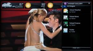 Widget Yahoo sur votre télévision