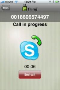 Skype dans Fringe