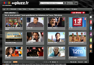 Pluzz.fr application catch-up de France Télévision