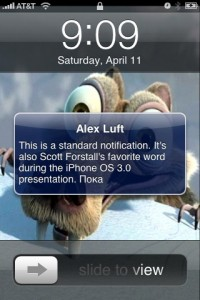 Notification Push iPhone