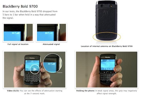 test apple blackberry bold 9700