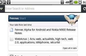 Fennec : la version mobile du navigateur Mozilla Firefox