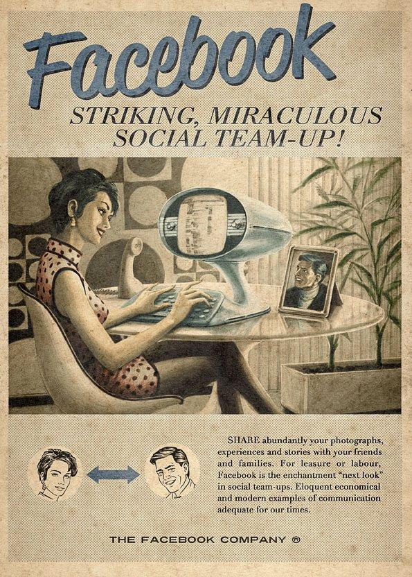 Publicité Facebook en 1960