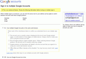 Google - Connexion multi-comptes