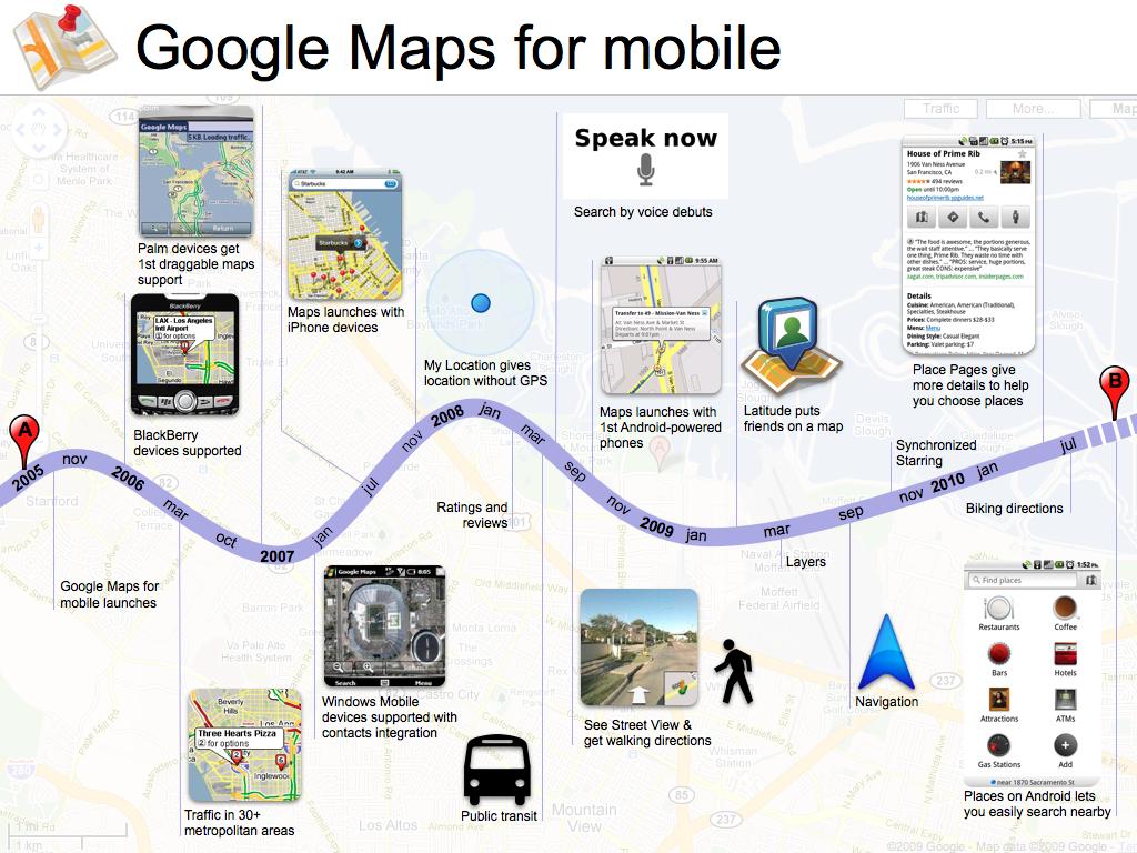 Histoire de Google Maps pour Mobile