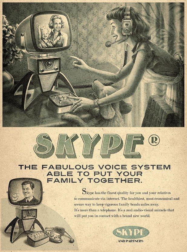 Publicité Skype en 1960