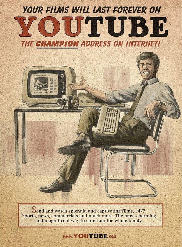 Publicité Youtube en 1960