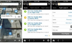 Application Bing Maps pour iPhone