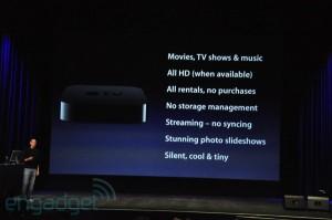 keynote: Apple-tv fonctionnalités