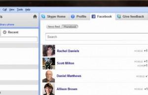 Intégration de Facebook dans Skype