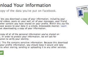 Télécharger vos informations personnelles