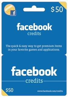 Facebook carte cadeau