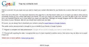 Message de Google pour ses utilisateurs
