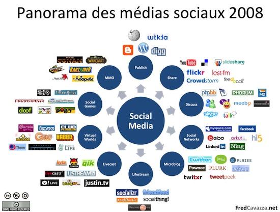 Panorama des réseaux sociaux en 2008