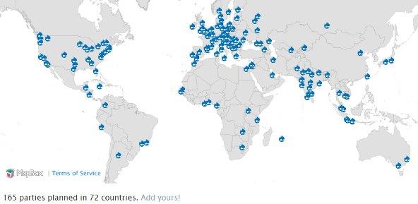 Déjà 165 Drupal 7 Release Party dans 72 pays