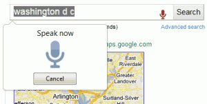 Chrome Voice Search