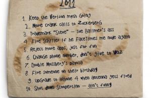 Résolutions Steve Jobs 2011