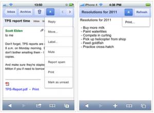 Imprimer depuis Google Apps depuis son mobile