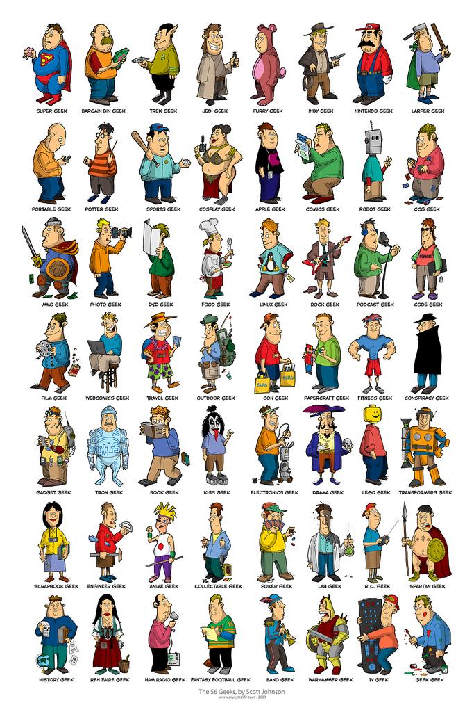 56 types de Geeks