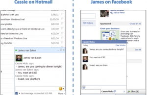 Facebook chat disponible sur Hotmail