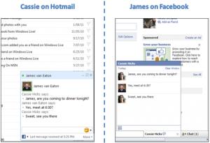 Facebook chat disponible sur Hotmail