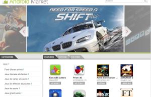 Google Android Market web