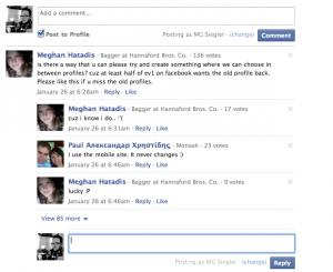 Facebook - Service de commentaires