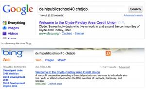 Google vs Bing - Preuve 2