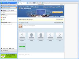 Publicités dans Skype