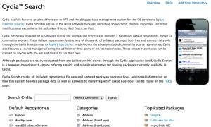 Moteur de recherche web Cydia