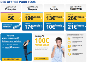 Forfaits de LaPoste Mobile