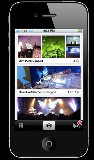 Facebook - Application Photo pour le partage