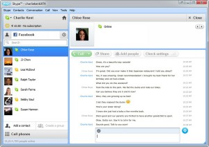 Facebook Chat dans Skype
