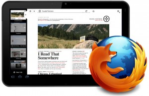 Firefox pour tablette tactile