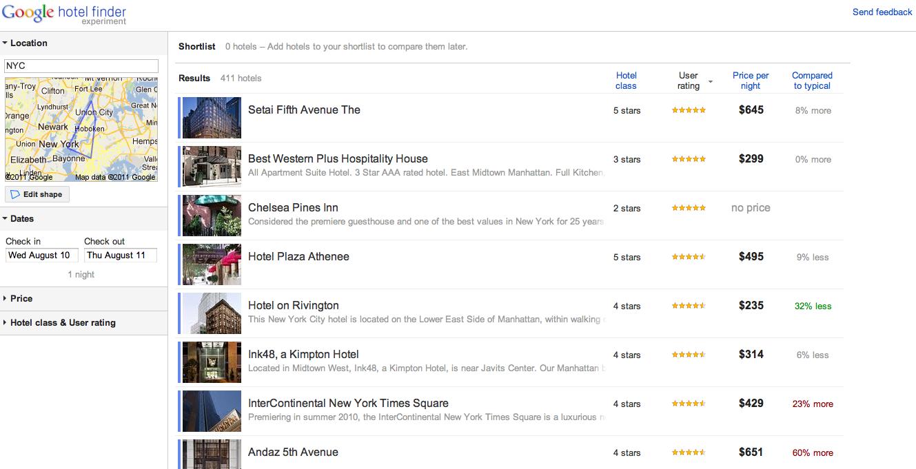 google propose un moteur de recherche pour h tel