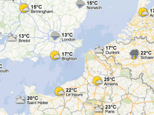 Google Maps météo