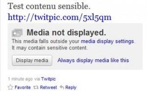 Photo Twitter contenu sensible
