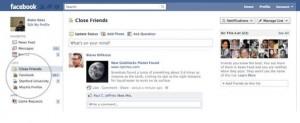 Facebook liste d'amis