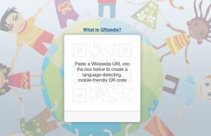 QRpedia Wikipedia