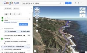 Vue de la route en 3D