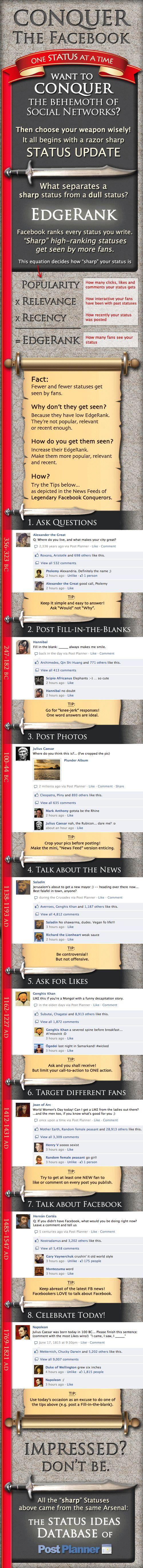 Les 8 types de statut Facebook les plus viraux