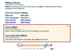 Pub Google bas de page