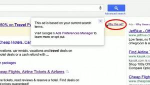 Pourquoi cette publicité - Google