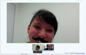 Easter egg moustache Google +