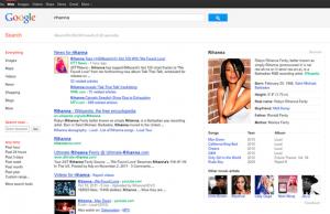Bloc résumé/identité Google
