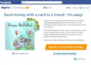 Application Paypal Facebook