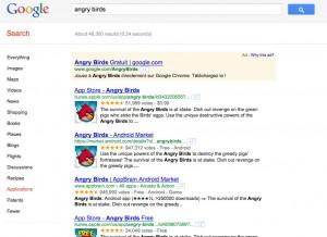 Recherche Google Applications mobile