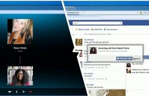 Skype et Facebook