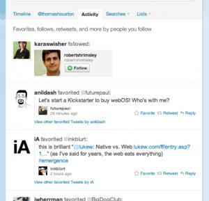 Twitter présente Activity