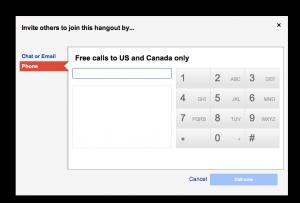 Téléphoner gratuitement avec Google hangout